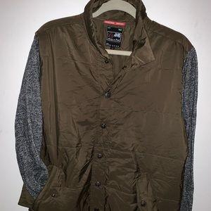 Men's windbreaker light jacket in pioneer brown